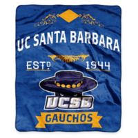 NCAA University of California, Santa Barbara Super Plush Raschel Throw Blanket