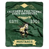 NCAA California Polytechnic State University Super Plush Raschel Throw Blanket