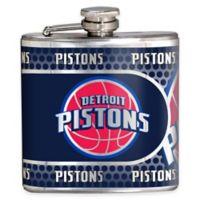 NBA Detroit Pistons Stainless Steel Metallic Hip Flask