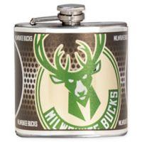 NBA Milwaukee Bucks Stainless Steel Metallic Hip Flask