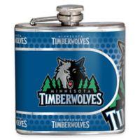 NBA Minnesota Timberwolves Stainless Steel Metallic Hip Flask