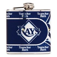 MLB Tampa Bay Rays Stainless Steel Metallic Hip Flask