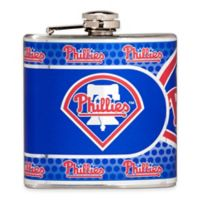 MLB Philadelphia Phillies Stainless Steel Metallic Hip Flask