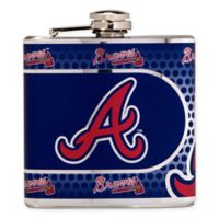 MLB Atlanta Braves Stainless Steel Metallic Hip Flask