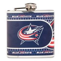 NHL Columbus Blue Jackets Stainless Steel Metallic Hip Flask