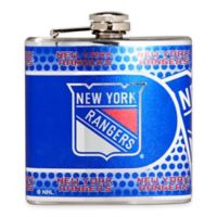 NHL New York Rangers Stainless Steel Metallic Hip Flask