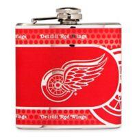 NHL Detroit Red Wings Stainless Steel Metallic Hip Flask