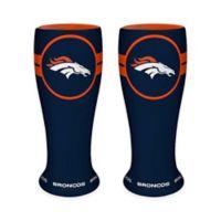 NFL Denver Broncos Ceramic Collectible Mini Pilsner Glass (Set of 2)
