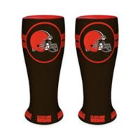 NFL Cleveland Browns Ceramic Collectible Mini Pilsner Glass (Set of 2)