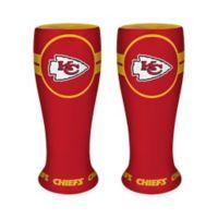 NFL Kansas City Chiefs Ceramic Collectible Mini Pilsner Glass (Set of 2)