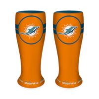 NFL Miami Dolphins Ceramic Collectible Mini Pilsner Glass (Set of 2)