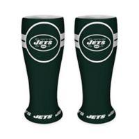 NFL New York Jets Ceramic Collectible Mini Pilsner Glass (Set of 2)