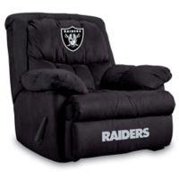 NFL Oakland Raiders Microfiber Home Team Recliner