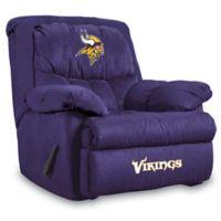 NFL Minnesota Vikings Microfiber Home Team Recliner
