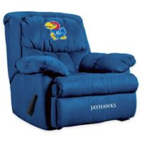 Kansas University Microfiber Home Team Recliner