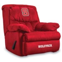 North Carolina State University Microfiber Home Team Recliner