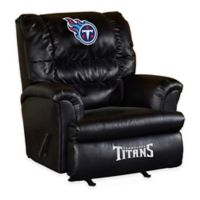 NFL Tennessee Titans Leather Big Daddy Recliner