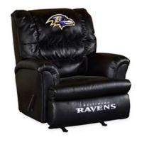 NFL Baltimore Ravens Leather Big Daddy Recliner