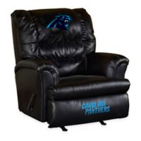 NFL Carolina Panthers Leather Big Daddy Recliner
