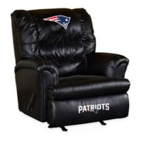 NFL New England Patriots Leather Big Daddy Recliner
