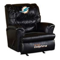 NFL Miami Dolphins Leather Big Daddy Recliner