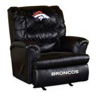 NFL Denver Broncos Leather Big Daddy Recliner
