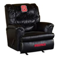 North Carolina State University Leather Big Daddy Recliner