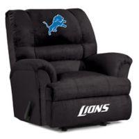 NFL Detroit Lions Microfiber Big Daddy Recliner