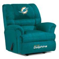 NFL Miami Dolphins Microfiber Big Daddy Recliner