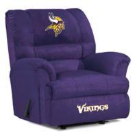 NFL Minnesota Vikings Microfiber Big Daddy Recliner