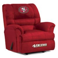 NFL San Francisco 49ers Microfiber Big Daddy Recliner