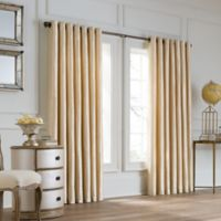 Valeron Lustre Grommet Top 108-Inch Wide x 120-Inch Long Window Curtain Panel in Sand
