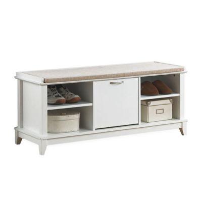 Baxton Studio Swiss Wooden Shoe Storage Bench In White