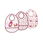 JJ Cole 3-Pack Chicks and Flowers Pocketed Bib