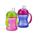Nuby™ 2-Pack 8 oz. Grip N' Sip No-Spill Cups in Pink/Purple