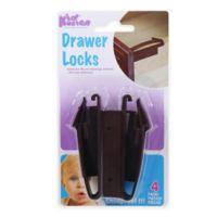 KidKusion® 4-Pack Adhesive Mount Drawer Locks