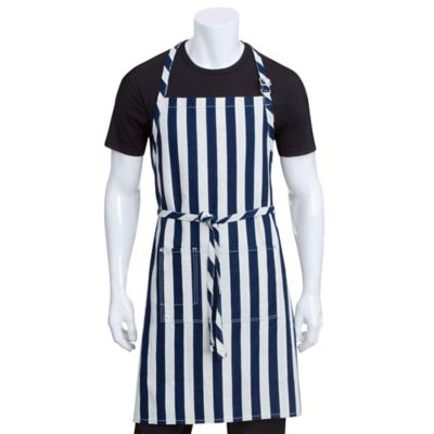 Chef Works® Striped Chesapeake Bib Apron In Blue/White