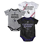 MLB Colorado Rockies  Three Strikes!  Newborn Bodysuit Set (Set of 3)