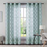 VCNY Aria 95-Inch Window Curtain Panel in Aqua