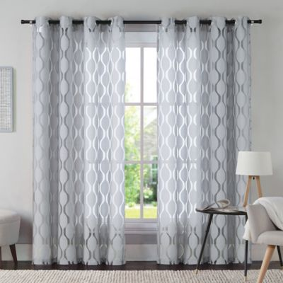 VCNY Aria 108 Inch Window Curtain Panel In Grey