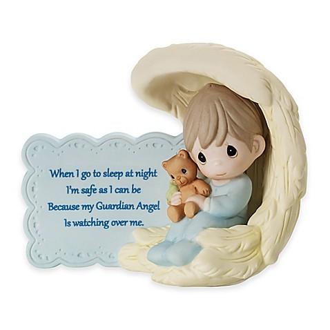 precious moments174 my guardian angel boy in wing figurine