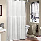 Soho 72-Inch x 75-Inch Linen Shower Curtain in White