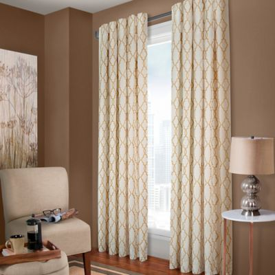 select claudia 120inch back tab window curtain panel in white sand
