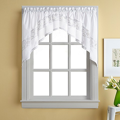 Kendra window curtain swag valance bed bath beyond - Swag valances for bathroom windows ...