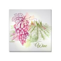 Watercolor Wine Canvas Wall Art