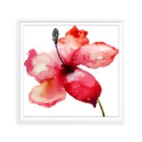 Watercolor Lily Framed Print Wall Art