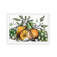 Watercolor Fresh Fruit Framed Wall Art