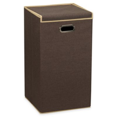 Household Essentials Lidded Laundry Hamper In Coffee