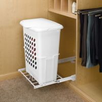 Rev-A-Shelf® Pull-Out Hamper with Lid in White