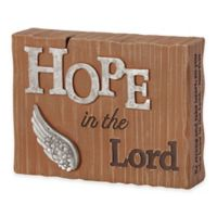 """Precious Moments® Pray it Forward """"Hope in the Lord"""" Plaque"""